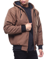 Heavy Coats - Quilted Canvas Jacket w Hood-2294454