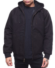 Heavy Coats - Quilted Canvas Jacket w Hood-2294427
