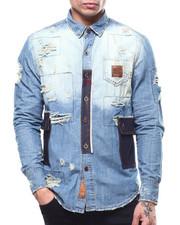 Heritage America - Patchwork Denim Button down Shirt-2293968