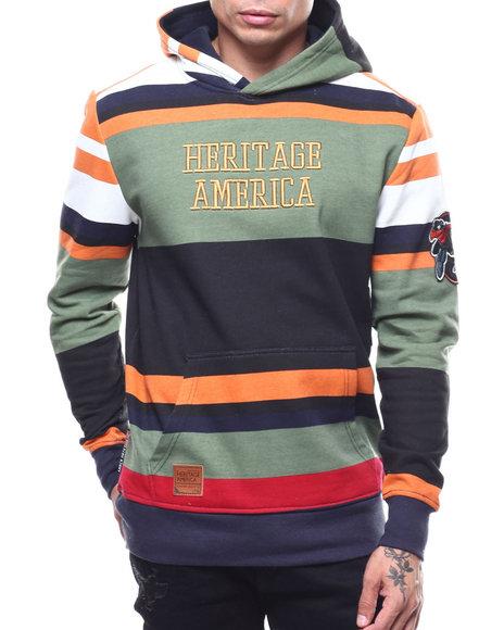 Heritage America - Stripe Knit Hoody