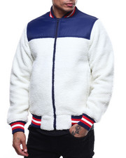 Mens-Holiday - Nylon ColorBlock Sherpa Jacket-2294351