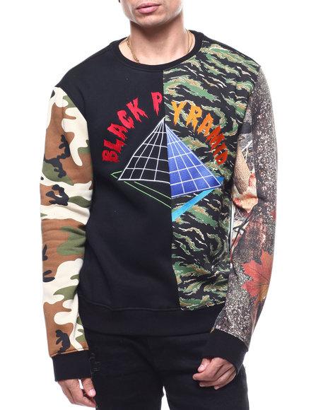 Black Pyramid - Multi Camo Offset Logo Crewneck Sweatshirt