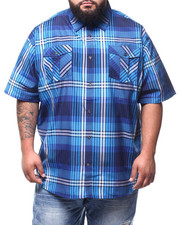 Button-downs - S/S Yarn Dyed Plaid Woven Shirt (B&T)-2294571