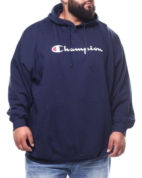 Champion - P/O Script Printed Logo Hoodie (B&T)