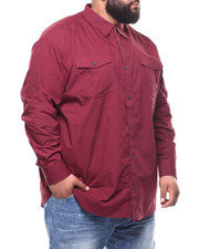 Big & Tall - Basic Solid L/S Woven (B&T)-2294567