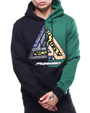 Black Pyramid - Split Offset Logo Safari Hoody-2293819