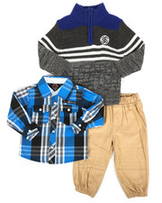 Boys - 3 Piece Sweater & Pant Set (Infant)-2291118