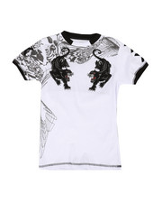 Boys - Double Panther w/ Flocking Tee (8-20)-2292948