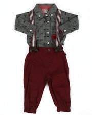 Boys - Bow Tie Print 3Pc Pant Set (0-9Mo)-2293060