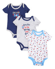 Duck Duck Goose - Dreamin Big 3Pk Creeper Set (0-24Mo)-2293230