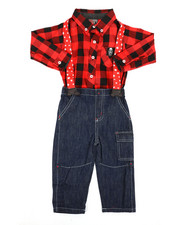 Boys - Cheer Print 3Pc Pant Set (12-24Mo)-2293020