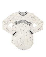 Sizes 8-20 - Big Kids - Long Sleeve San Antonio Jersey T-Shirt (8-20)-2293306