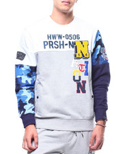 Parish - Colorblock Camo Crewneck Sweatshirt-2295146