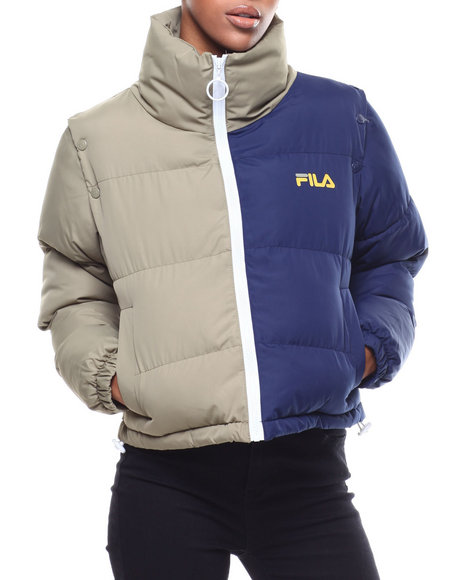 Fila - Martina Snap Off Sleece Crop Puffer