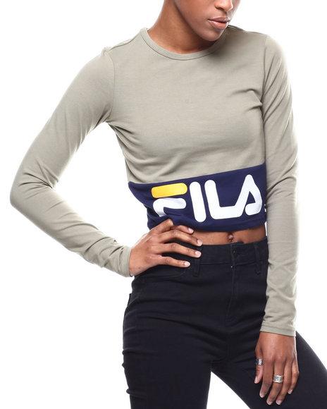 Fila - Maria Crop Long Sleeve Top