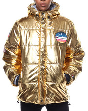 Womens-Winter - Metallic Puffer Jacket-2293501