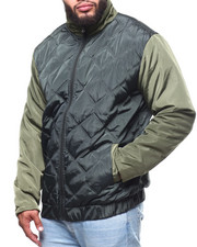Outerwear - Quilted Jacket/Nylon Sleeve B&T)-2296548