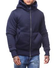 Mens-Fall - Faux Fur Lined Hoodie-2296599