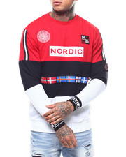Nordic Down - L/S COLORBLOCK FLAG CREWNECK SWEATSHIRT-2296363