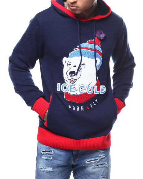 Born Fly - PATCH HOODED SWEATER