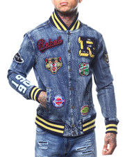Denim Jackets - denim varsity jacket-2296224