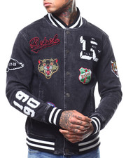 Denim Jackets - denim varsity jacket-2296231