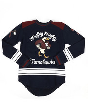 Arcade Styles - Mighty Tomahawks Long Sleeve Jersey (8-20)-2296134