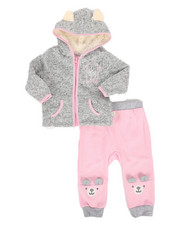 Duck Duck Goose - Teddy Bear 2Pc Sweater Fleece Set (Infant)-2296709