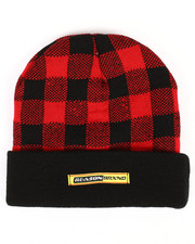 Reason - Plaid Checkered Beanie-2296594