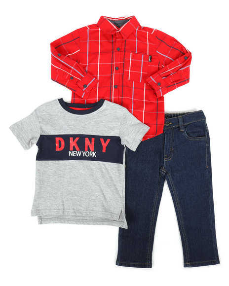 DKNY Jeans - 8Th Avenue 3Pc Set (2T-4T)