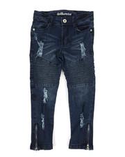Girls - Destructed Moto Skinny Jean (4-6X)-2295533