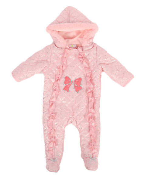 Duck Duck Goose - Glitter Print Quilted Padded Pram Suit (Infant)