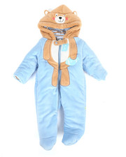 Duck Duck Goose - Football Bear Fleece Pram Suit (Infant)-2296809