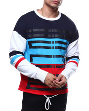 Kleep - French Terry cut block Crewneck Fleece Pullover-2297327
