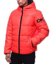 Heavy Coats - Quilted Logo Hooded Puffer Jacket-2297415
