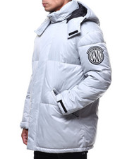 Heavy Coats - LONG HOODED BUBBLE PARKA JACKET-2297385