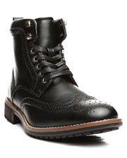 Footwear - Wing Tip Lace Up Boots-2297754