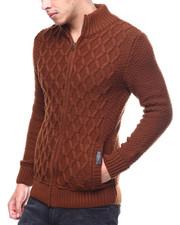 Men - Cable Zip Up Mock Neck Sweater-2298990