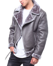 Heavy Coats - FAUX SHEARLING MOTO JACKET BY ROBERT PHILLIPE-2299073