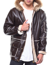 Mens-Holiday - Faux Shearling Ski Parka-2298592