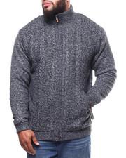 Sweatshirts & Sweaters - Full Zip Cable Knit Sweater  (B&T)-2300502