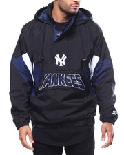 Athleisure for Men - Yankees Breakaway Hooded Half-Zip Pullover Jacket-2300024