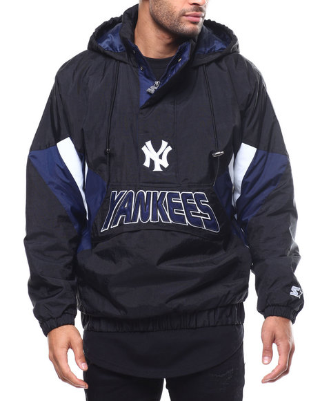 Starter - Yankees Breakaway Hooded Half-Zip Pullover Jacket