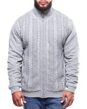 Big & Tall - Full Zip Cable Knit Sweater  (B&T)-2300506