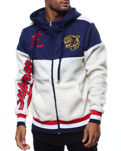 Buyers Picks - SHERPA VARSITY JACKET W HOOD