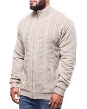 Big & Tall - Full Zip Cable Knit Sweater  (B&T)-2299955