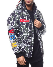 Athleisure for Men - Ape Camo Hooded Jacket BY ROBERT PHILLIPE-2300496