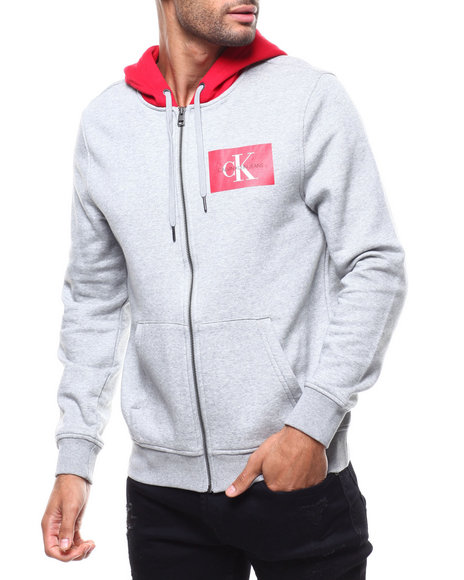 Calvin Klein - logo zip hoodie