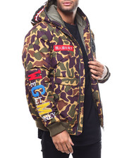 Mens-Winter - Ape Camo Hooded Jacket BY ROBERT PHILLIPE-2300510