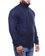 Big & Tall - Full Zip Cable Knit Sweater  (B&T)-2300453
